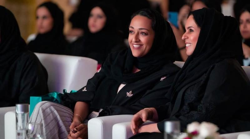 image of Her Excellency Sheikha Nawar Al Qasimi, Director of the Sharjah Art Foundation; Her Excellency Khawla Al Serkal, Director General of Sharjah Ladies Club.