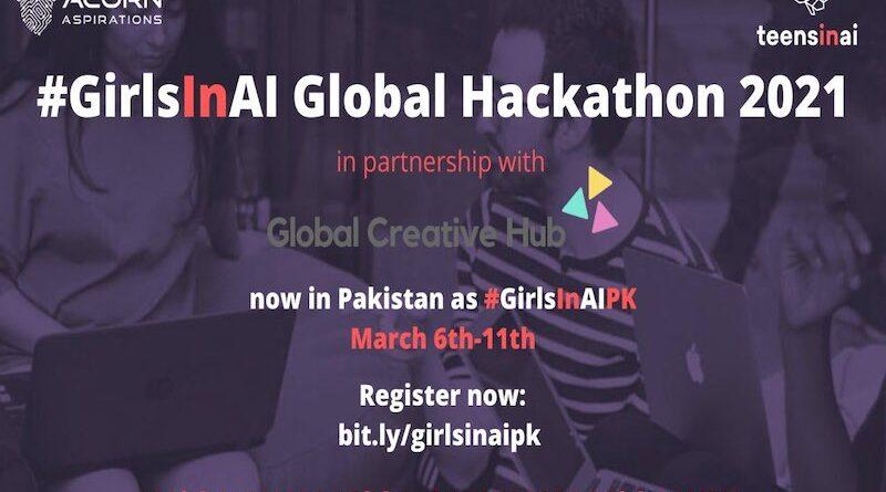 Teens in AI Celebrates International Women's Day with #GirlsInAI Hackathon